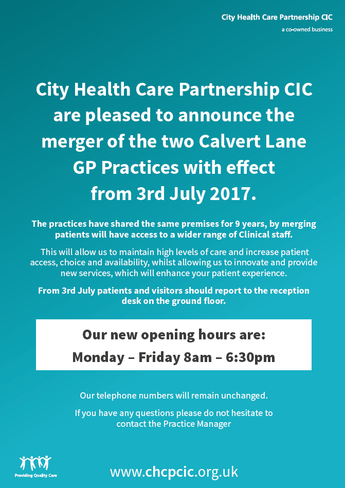 Calvert Merger from 3 July 2017